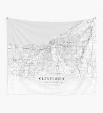 Cleveland, United States Light Map Wandbehang