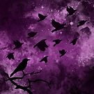 Birds on a Purple Sky by whimsystation