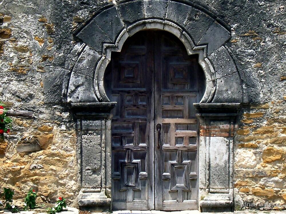 Mission Espada Door by Brian Gaynor