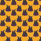 Pug Halloween by nokhookdesign