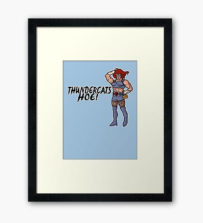 Thundercats Hoeeeee Framed Print