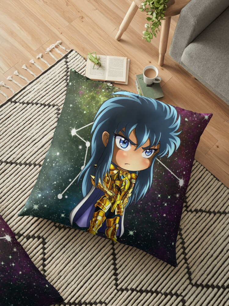 'Chibi - Aquarius Camus' Floor Pillow by Khazemya