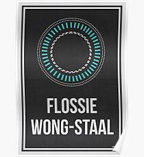 FLOSSIE WONG-STAAL - Frauen in der Wissenschaft Poster