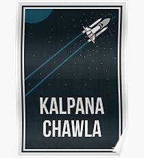 KALPANA CHAWLA - Frauen in der Wissenschaft Poster