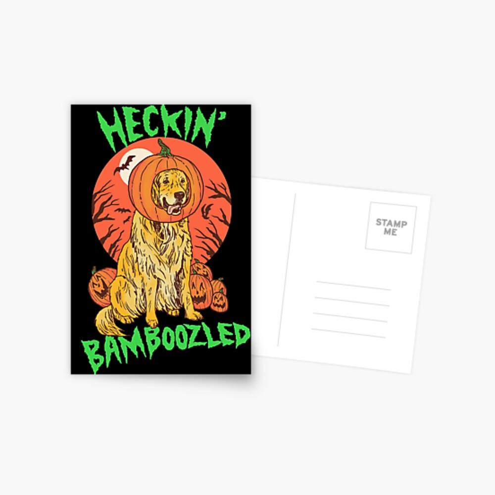 Doggo Lantern Postcard