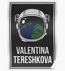 VALENTINA TERESHKOVA - Frauen in der Wissenschaft Poster