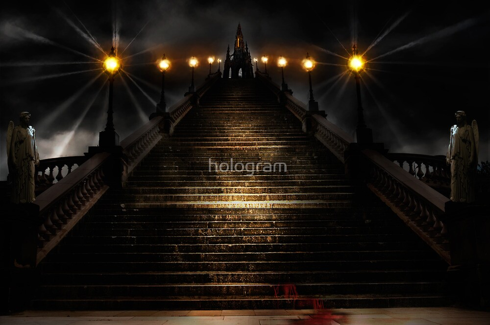 Staircased by hologram