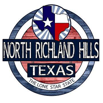 North Richland Hills Texas rustic wood circle by artisticattitud