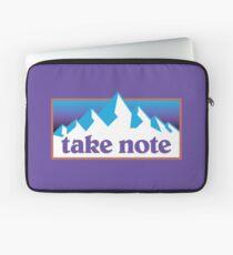 Take Note mountains 90s Laptop Sleeve