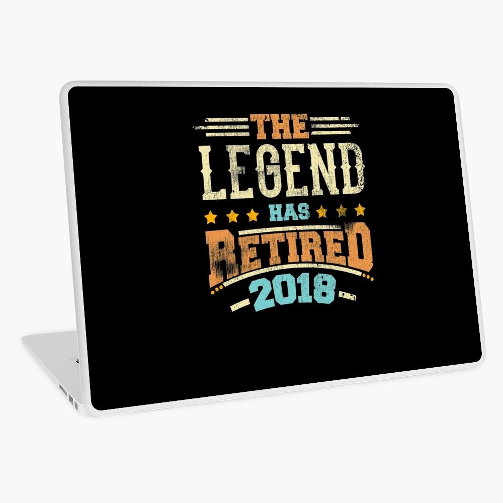 Legende hat Pensionierungsparty-Vati 2018 pensioniert Laptop Folie