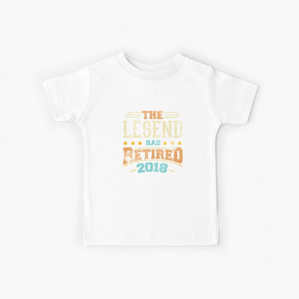 Legende hat Pensionierungsparty-Vati 2018 pensioniert Kinder T-Shirt
