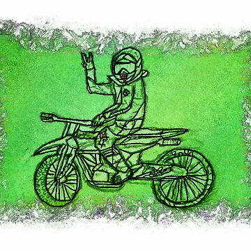 Peace Rider - Motocross Racer by NaturePrints