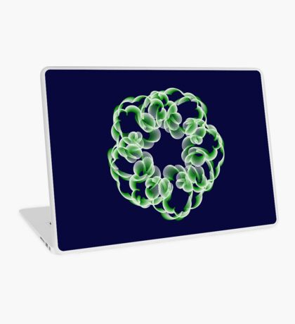 Spirals with Green and White Laptop Skin
