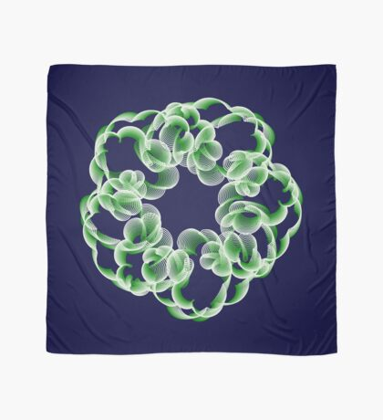 Spirals with Green and White Scarf