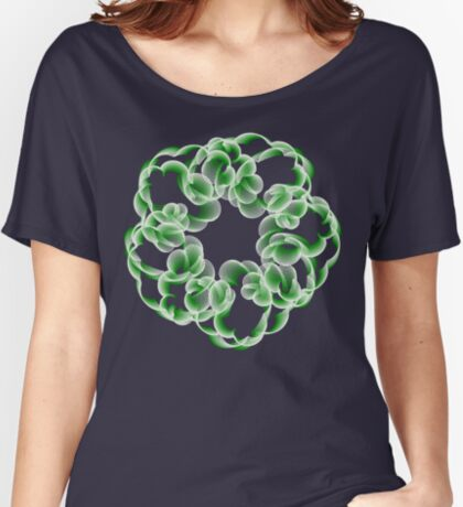 Spirals with Green and White Relaxed Fit T-Shirt