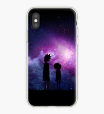 Minimalist Rick and Morty Space Design iPhone Case