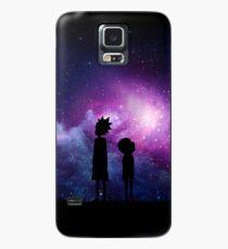 Minimalistische Rick und Morty Space Design Hülle & Klebefolie für Samsung Galaxy
