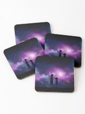 Minimalist Rick and Morty Space Design Coasters