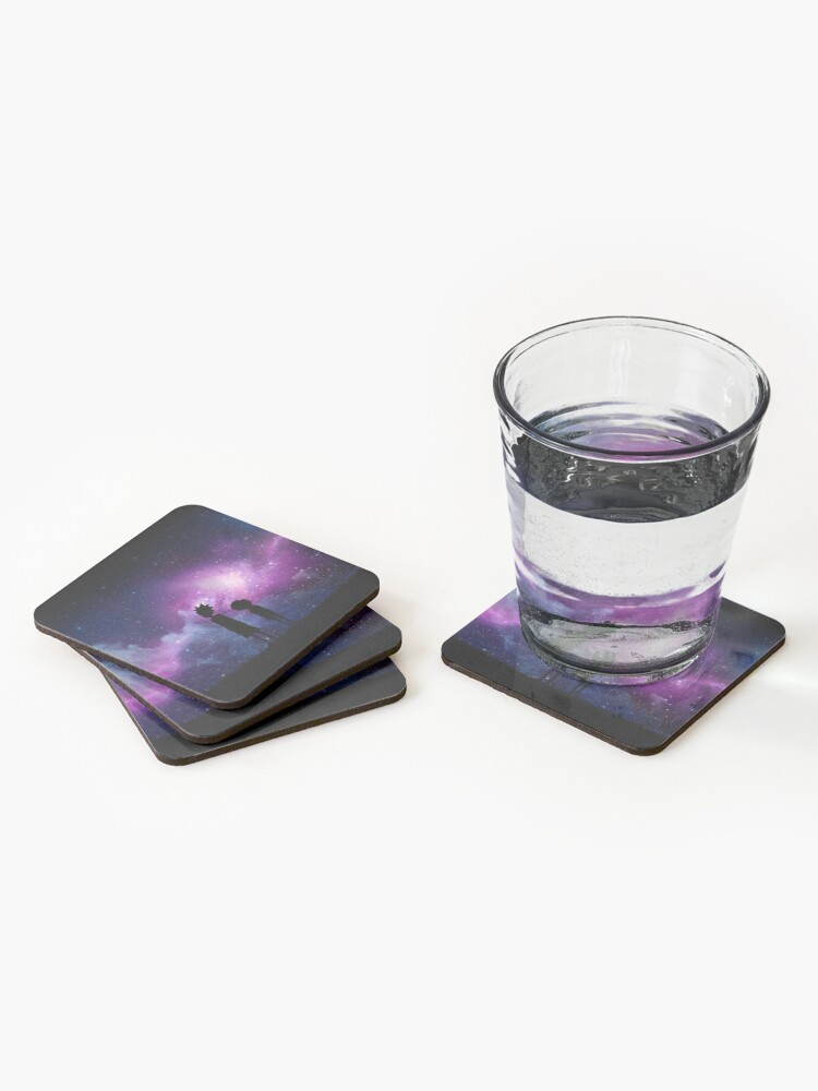 Alternate view of Minimalist Rick and Morty Space Design Coasters (Set of 4)