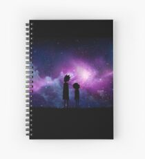 Minimalist Rick and Morty Space Design Spiral Notebook