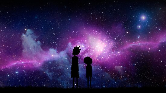 Minimalist rick and morty space design photographic - Evil morty wallpaper 4k ...