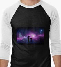 Camiseta ¾ bicolor para hombre Diseño minimalista de Rick y Morty Space