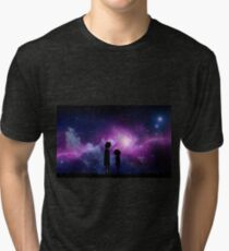Minimalist Rick and Morty Space Design Tri-blend T-Shirt