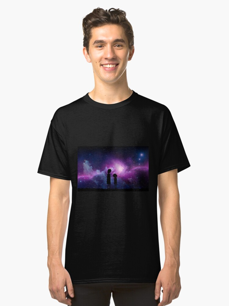 Alternate view of Minimalist Rick and Morty Space Design Classic T-Shirt