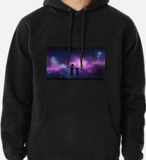 Minimalist Rick and Morty Space Design Pullover Hoodie