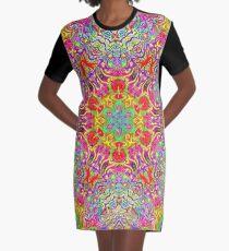 Ultraviolet Graphic T-Shirt Dress