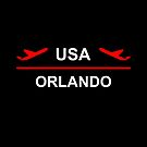 Orlando USA Airport Plane Dark Color by TinyStarAmerica