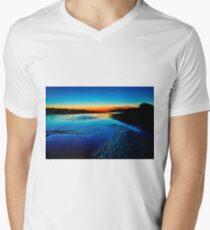 """Daybreak Reflections"" Men's V-Neck T-Shirt"