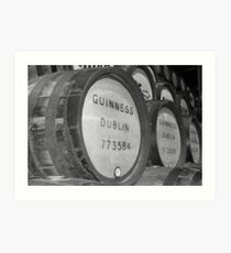 Guinness barrels Art Print