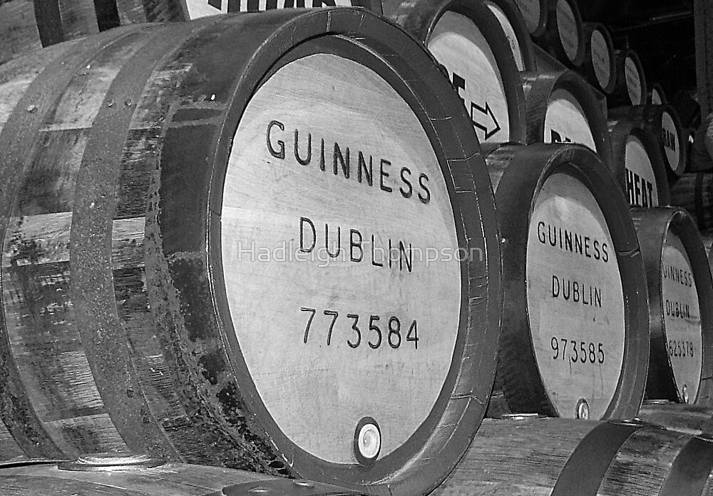 Guinness barrels by Hadleigh Thompson