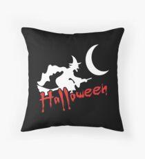 Halloween Hexe auf Besen Kissen