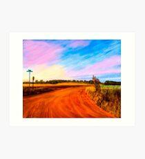 Sunset On Red Dirt Roads - Georgia Rural Landscapes Art Print