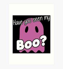 Haloween Gespenst my Boo Kunstdruck