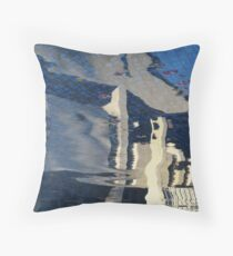 Motel pool reflection, Los Angeles Throw Pillow