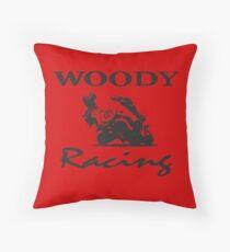 Woody Racing Throw Pillow