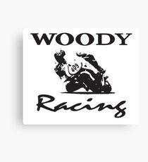 Woody Racing Canvas Print