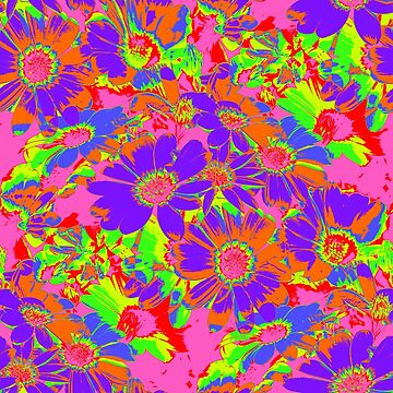 Neon Cape Daisies by NeonPink