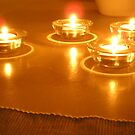 Lighted Candles  by peterrobinsonjr