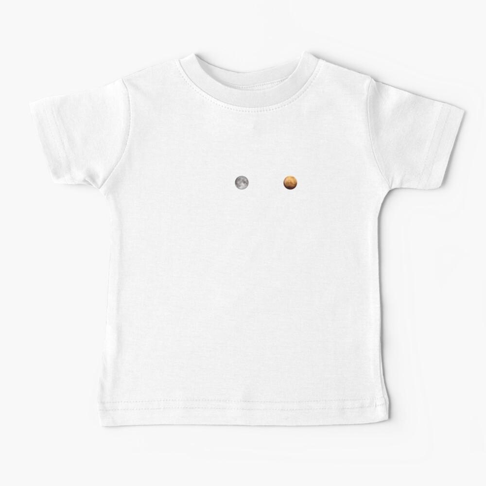 Apollo 50th Anniversary Logo - Nächster Riesensprung - Zuerst der Mond, nächster Mars! Baby T-Shirt