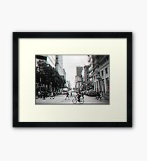 Stereoscopic San Francisco People Framed Print