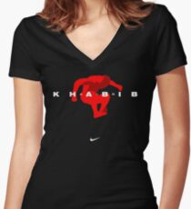 Air Khabib Nurmagomedov Women's Fitted V-Neck T-Shirt