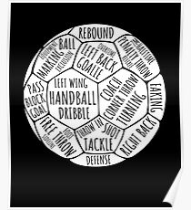 Vintage Words Handball T-Shirt Handball Player Gift Shirt Poster
