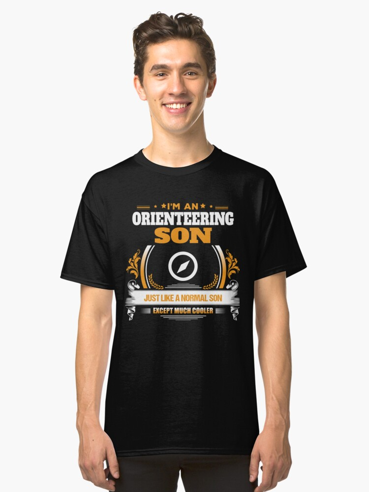 Orienteering Son Christmas Gift or Birthday Present Classic T-Shirt Front