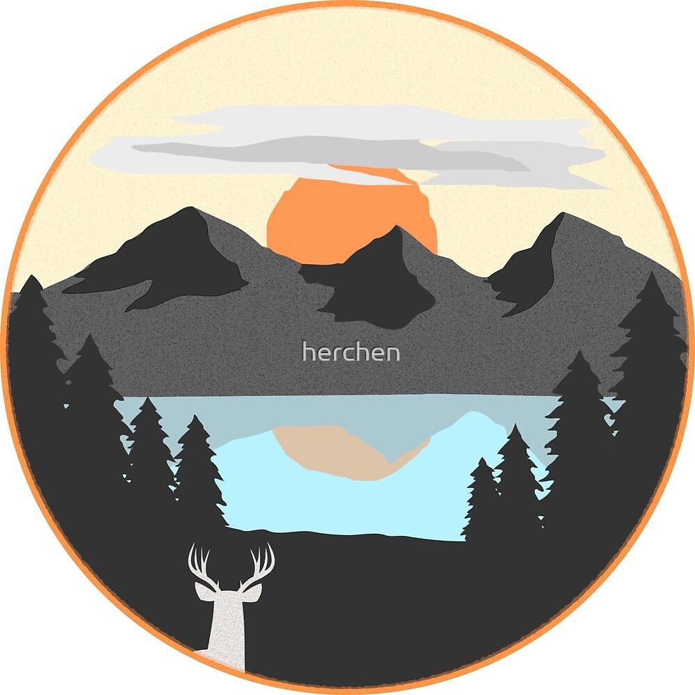 Deer Looking on Lake by herchen
