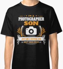 Photographer Son Christmas Gift or Birthday Present Classic T-Shirt