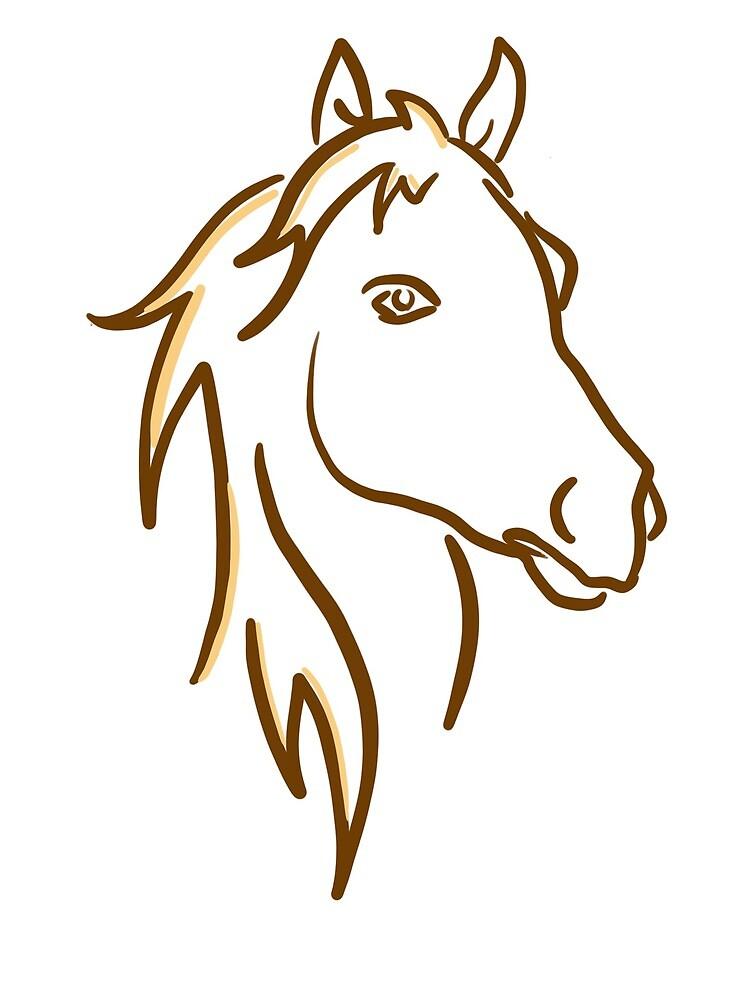 Horse Outline by vadasyva